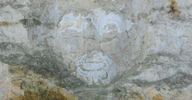 Gesicht Im Sandstein